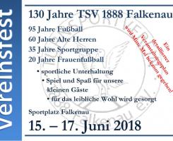 Vereinsfest 130 Jahre TSV 1888 Falkenau